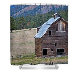Old Barn In Washington Shower Curtain