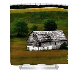 Old Barn Near Buckhannon Shower Curtain