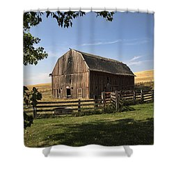 Old Barn On The Palouse Shower Curtain
