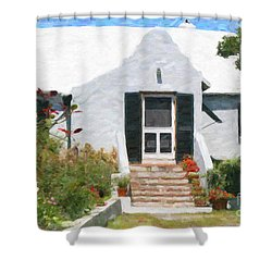 Shower Curtain featuring the photograph Old Bermuda Home by Verena Matthew