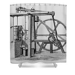 Old Bess Steam Engine Shower Curtain by SPL and Science Source