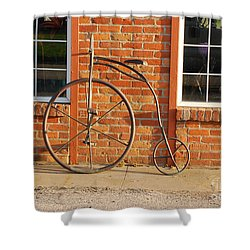 Old Bike Shower Curtain by Mary Carol Story