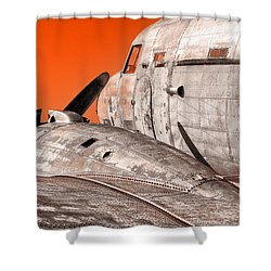 Old Bird Shower Curtain
