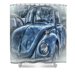 Old Blue Bug Shower Curtain
