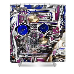 Shower Curtain featuring the digital art Old Blue Eyes by Seth Weaver