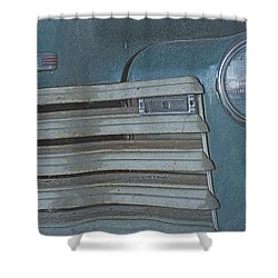 Old Blue Shower Curtain by Lynn Sprowl