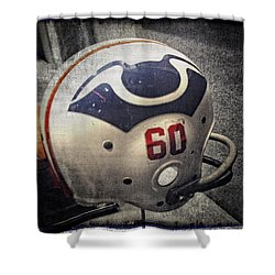 Old Boston Patriots Football Helmet Shower Curtain