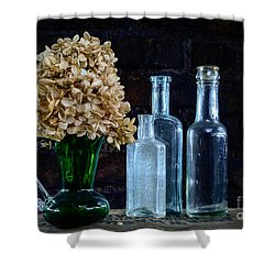 Shower Curtain featuring the photograph Old Bottles by Alana Ranney
