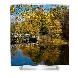 Old Bridge At Waterloo Shower Curtain by Eleanor Abramson