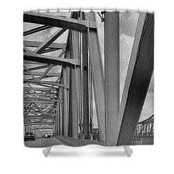Shower Curtain featuring the photograph Old Bridge New Bridge by Janette Boyd