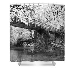 Old Brige Shower Curtain