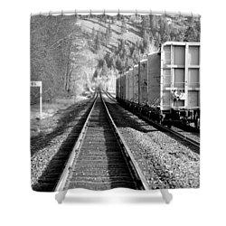Old Bristol Rail In Ellensburg Shower Curtain