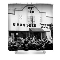 Old Building New Bikers Shower Curtain by Laurie Perry
