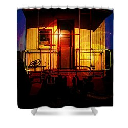 Old Caboose  Shower Curtain by Aaron Berg