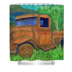 Old Canadian Truck Shower Curtain