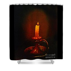 Old Candle Stick Painting Shower Curtain