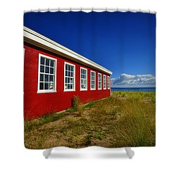Old Cannery Building Shower Curtain