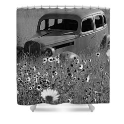 Shower Curtain featuring the photograph Old Car by Leticia Latocki