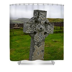 Old Cemetery Stones In Scotland Shower Curtain
