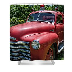 Old Chevy Fire Engine Shower Curtain