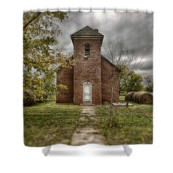 Old Church In Fall Shower Curtain