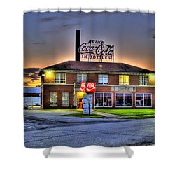 Old Coca Cola Bottling Plant Shower Curtain by Jonny D