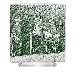 Shower Curtain featuring the photograph Old Coke Bottles by Greg Reed