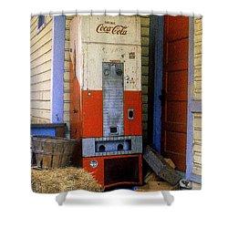 Old Coke Machine Shower Curtain