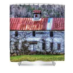 Old Country Schoolhouse Shower Curtain