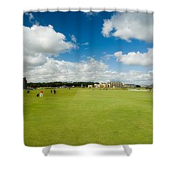 Old Course Fairways Shower Curtain by Jeremy Voisey