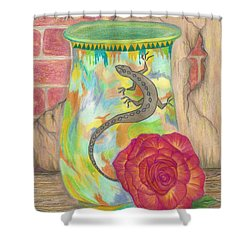 Old Crock And Rose Shower Curtain