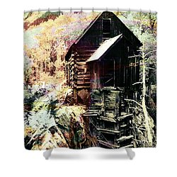 Old Crystal Mill Crystal Colorado Shower Curtain by Paula Ayers