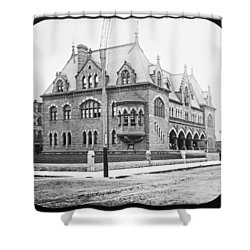 Old Customs House And Post Office Evansville Indiana 1915 Shower Curtain