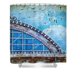 Old Deposit Detail Shower Curtain by Silvia Ganora