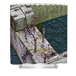 Old Dock 1 Shower Curtain by Adria Trail