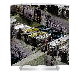 Old Dock 2 Shower Curtain by Adria Trail
