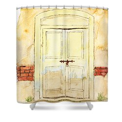 Old Door Shower Curtain