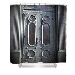 Old Doorway Quebec City Shower Curtain by Edward Fielding