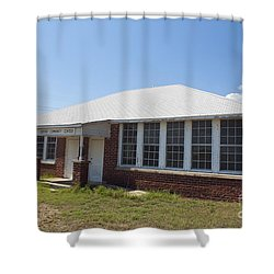 Old Duffau Schoolhouse Shower Curtain by Jason O Watson