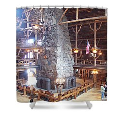 Old Faithful Inn Shower Curtain
