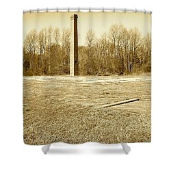 Old Faithful Smoke Stack Shower Curtain