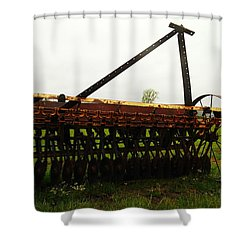 Old Farm Equipment Shower Curtain by Jeff Swan