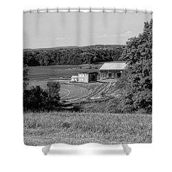 Old Farm House Revisited Shower Curtain