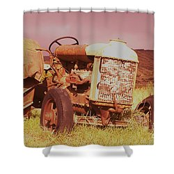 Old Farm Tractor  Shower Curtain by Jeff Swan