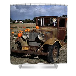 Shower Curtain featuring the photograph Old Farm Truck by Michael Gordon