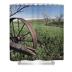 Old Farm Wagon Shower Curtain by Art Whitton