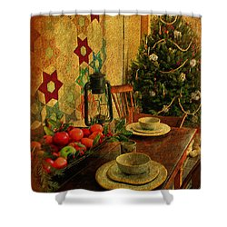 Shower Curtain featuring the photograph Old Fashion Christmas At Atalaya by Kathy Baccari