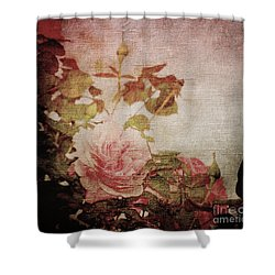 Old Fashion Rose Shower Curtain