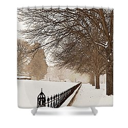 Old Fashioned Winter Shower Curtain by Chris Berry