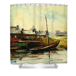 Old Fisherman's Village Shower Curtain